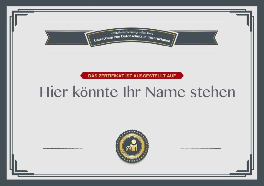 Individuelles Zertifikat  - Step 5 | emitarbeiterschulung.de
